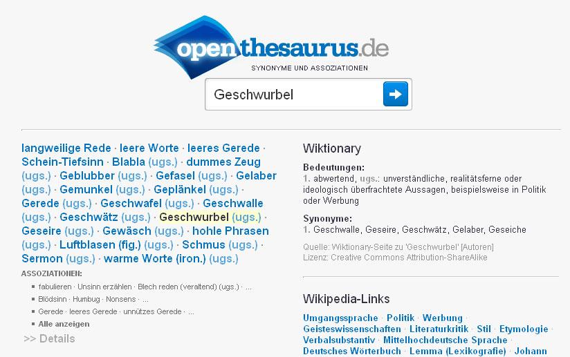 geschwurbel-openthesaurus